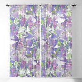 Phlox Beauty Sheer Curtain