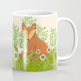 Fox in the Daisies Coffee Mug