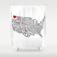 washington Shower Curtains featuring Washington by Taylor Steiner