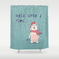 once upon a  time Shower Curtains featuring Once upon a time...  by bica Studio