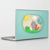 happy birthday Laptop & iPad Skins featuring happy birthday by Lidija Paradinović Nagulov - Celandine