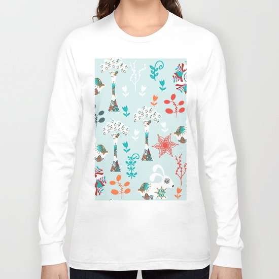 Animals pattern Long Sleeve T-shirt
