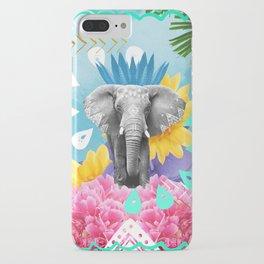 Elephant Festival - Blue iPhone Case