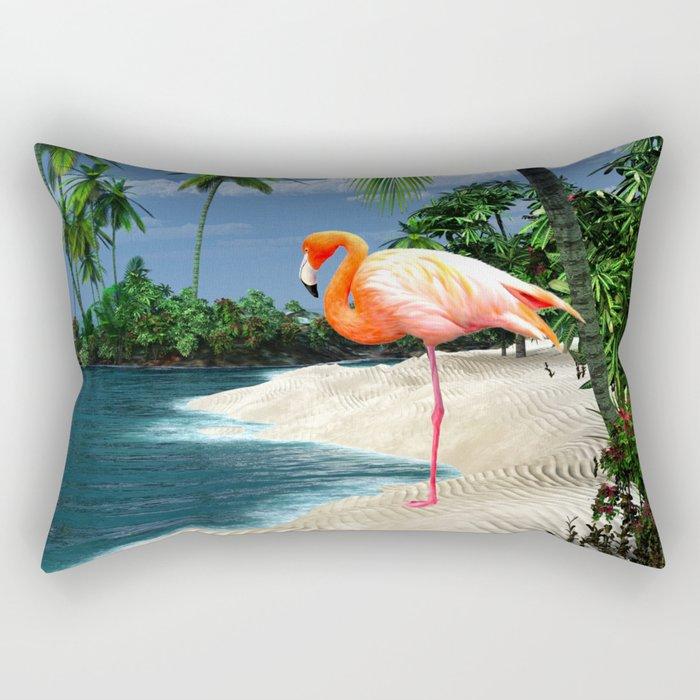 Flamingo Island Rectangular Pillow