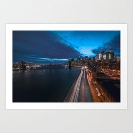 Blue Hour New York City Art Print