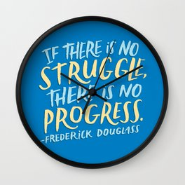 Frederick Douglass on Progress Wall Clock