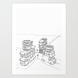 we are at a crossroads Art Print