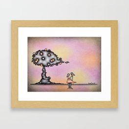 Dark Lovers By The Dark Tree Framed Art Print