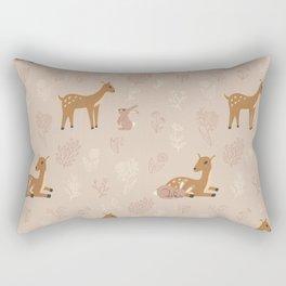 Deer and rabbit cute pattern Rectangular Pillow