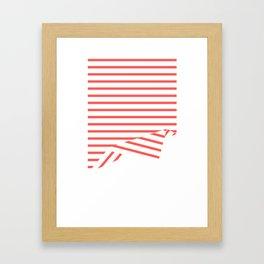 Line Fold Framed Art Print