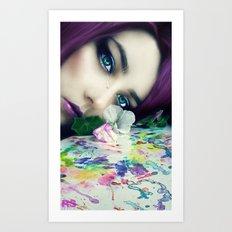 Silent Tears Art Print