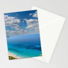 The beach Pefkoulia in Lefkada, Greece Stationery Cards