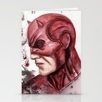 daredevil Stationery Cards featuring Daredevil by rchaem