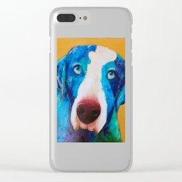 Rudy the dog Clear iPhone Case