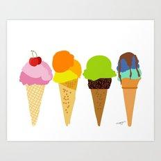 Ice cream cone  Art Print