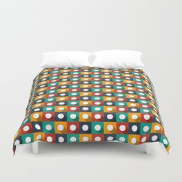 Flat design modern vector illustration background pattern with long shadow effect Duvet Cover
