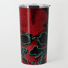 Skull red Travel Mug
