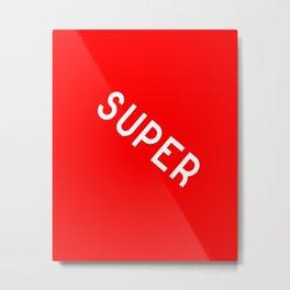 SuperRed Metal Print