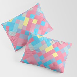 Genderflux Pride Pixelated Angled Squares Pillow Sham