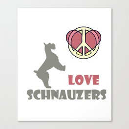 Costume For Schnauzers Lover. Gift Ideas Canvas Print