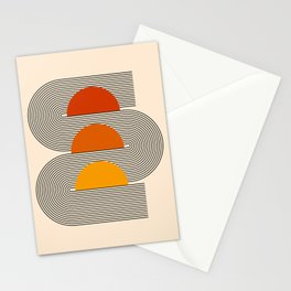 Abstraction_NEW_SUNSET_SUNRISE_LINE_ART_022AA Stationery Cards