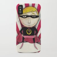 superhero iPhone & iPod Cases featuring Superhero by Sonia Puga Design
