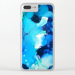 B L U E S Clear iPhone Case