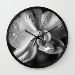 Orchid Black and white Photography | black-and-white | Spring | Easter Wall Clock