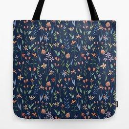 Wildflowers in the Air Navy Tote Bag