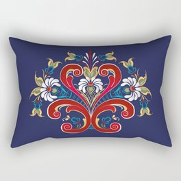 Scandinavian Rosemaling II Rectangular Pillow