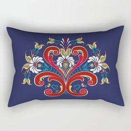 Scandinavian Rosemaling II Rectangular Pillow