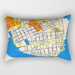 Map of Charleston, SC Rectangular Pillow