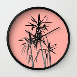 Palm Trees - Apricot Blush Cali Summer Vibes #1 #decor #art #society6 Wall Clock