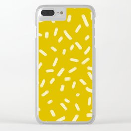 Mustard Yellow Brush Strokes Clear iPhone Case