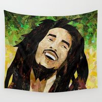 marley Wall Tapestries featuring Marley Collage by Emily Harris