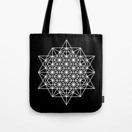 White star tetrahedron Tote Bag