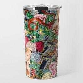 Floral and Animals pattern Travel Mug