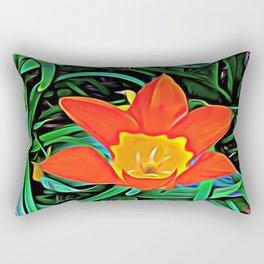 Flower of Enchanted Orange Flow Rectangular Pillow