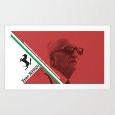 Enzo Ferrari 1898 - 1988 Art Print