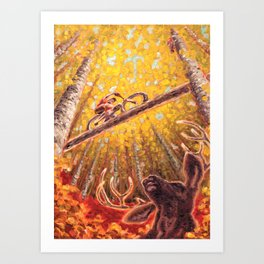 Mountain Station Deer Art Print