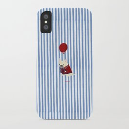 French Bulldog with Stripe iPhone Case