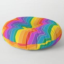 Rainbow Wave Floor Pillow