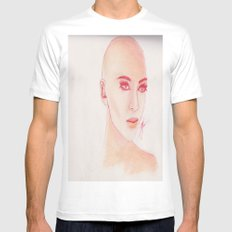 Baldy Mens Fitted Tee White MEDIUM