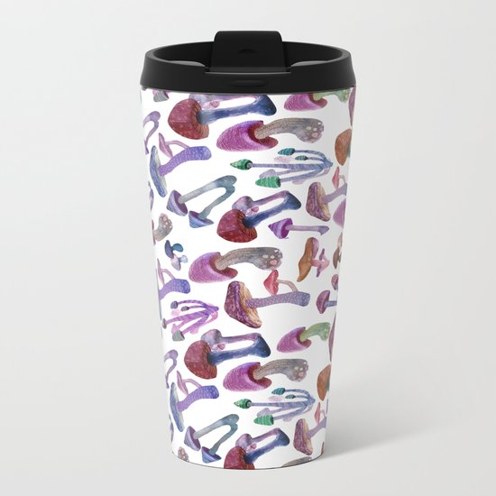 mushrooms Metal Travel Mug