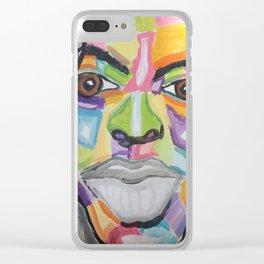 Rain Face Clear iPhone Case
