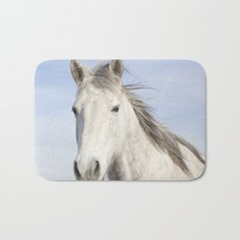 Whit Horse in Color Bath Mat