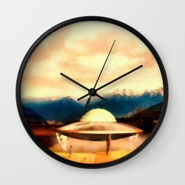 Alien With Craft Wall Clock