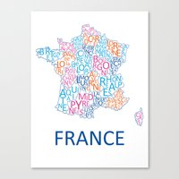 france Canvas Prints featuring France by Alexandra Dzh