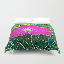 Magenta Flower of Harmony Duvet Cover