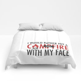 I would rather put a campfire out with my face / Debra Morgan / Dexter Comforters